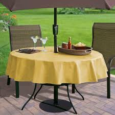 Tablecloth For Umbrella Patio Table Vinyl Tablecloth With Umbrella Designs