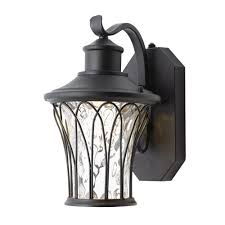 home decorators collection black outdoor led dusk to dawn wall