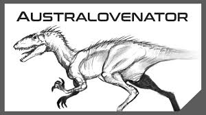 how to draw a dinosaur australovenator sketch youtube