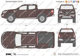renault alaskan 2017 the blueprints com vector drawing renault alaskan