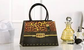 purse gift bags paper purse shape gift bag black snakeskin and leopard print design