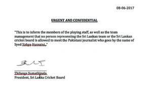 fake letter targets pak reporter