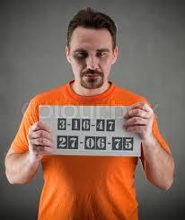orange jumpsuit arrested wearing a orange jumpsuit stock photo colourbox