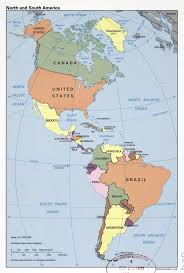Countries Of South America Map Large Detailed Political Map Of North And South America U2013 1996