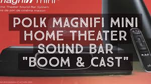 mini home theater polk magnifi mini dolby 5 1 home theater sound bar review youtube