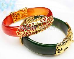 crystal buckle bracelet images Beautiful natural red green yu gem crystal buckle lucky bracelet jpg