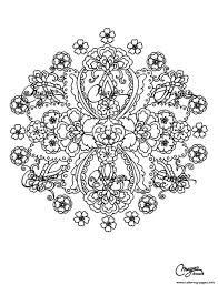 mandalas flowers coloring pages printable
