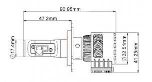 h4 led headlight conversion kit