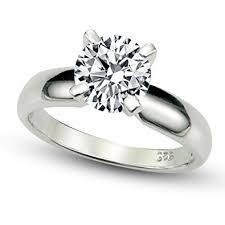 4 carat cubic zirconia engagement rings sterling silver cubic zirconia solitaire 1 25 carat tw