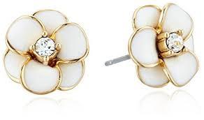 earrings new york kate spade new york flower white stud earrings jewelry