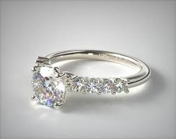 set diamond 14k white gold prong set diamond engagement ring this classic