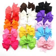 boutique hair bows 15 colors 3 inch boutique hair bows kids alligator clip