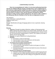 sample guided reading lesson plan 9 documents in pdf word