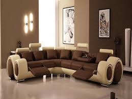 contemporary living room interior design ideas using brown wall