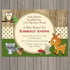 woodland baby shower invitations woodland baby shower invitations forest animals shower
