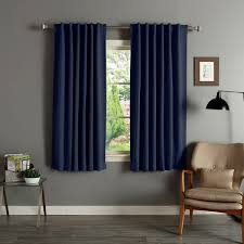 60 Inch Length Curtains Aurora Home Solid Insulated Thermal 63 Inch Blackout Curtain Panel