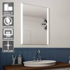 Bathroom Demister Mirrors Elaine Ultra Slim 80 X 60cm