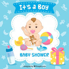 baby boy baby shower it s a boy baby shower background vector free