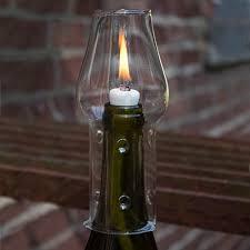 wine bottle oil lamp kit contents to make one wine bottle lantern