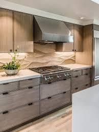 Limestone Kitchen Backsplash A Neutral Limestone Backsplash Contrasts The Lines Of The