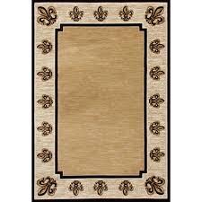 Fleur De Lis Area Rug Carpet Isabelle Fleur De Lis Beige 6 Ft 7 In X 9 Ft 2 In