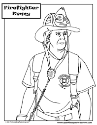 coloring firefighter coloring pages