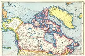 map of canada atlas canada showing provinces harmsworth 1920 vintage map plan chart