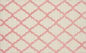 Pink And White Rug Midge
