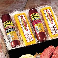 cheese baskets sausage and cheese food gift summer sausage cheddar cheese