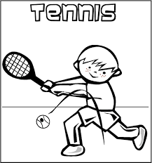playing tennis coloring pages sport coloring pages of