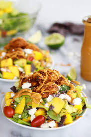 tortilla chip crusted chicken salad with avocado chipotle lime