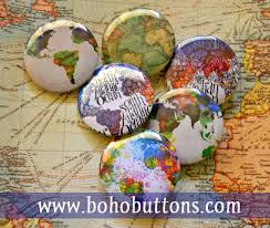 Etsy World Map by Boho Buttons