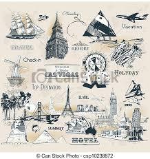travel symbols images Set of vintage travel symbols vectors illustration search jpg