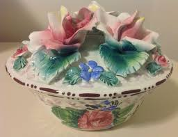 italian porcelain roses exquisite large italian bowl with lid porcelain roses