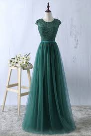 simple dresses green tulle lace top neck evening dresses simple