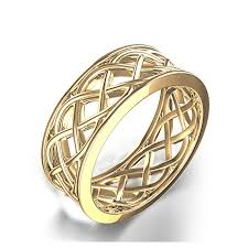 Celtic Wedding Rings by Woven Celtic Wedding Ring In 14k Yellow Gold