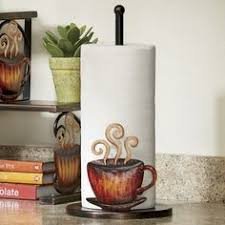 themed paper towel holder paper towel holder coffee kitchen decor mocha coffee kitchen