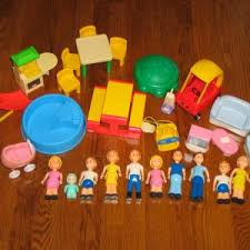 fisher price little people lot of buildings figures and