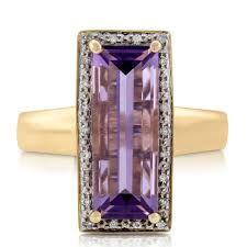 compare prices on amethyst engagement baguette amethyst u0026 diamond ring 14k ben bridge jeweler