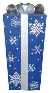 fiberglass decorative gift box with snowflakes contemporary