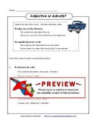 comparative and superlative practice adverb worksheets