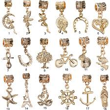 necklace pandora style images Free shipping 1pc gold european moon angel pendant haning bead jpg