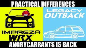 comparison subaru wrx wagon vs subaru outback wagon youtube