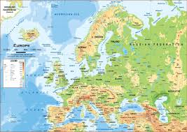 Asia Physical Map Physical Map Of Europe And Geographic Of Roundtripticket Me