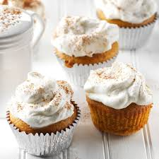Pumpkin Cupcakes by Pumpkin Pie Cupcakes With Whipped Cream Recipe Taste Of Home