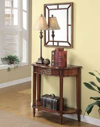 Entry Console Table With Mirror This 3pc Entry Way Console Table Mirror And Lamp Set In Warm