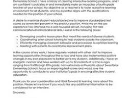 Cover Letter For College Sample Cover Letter For Teaching Assistant Image Collections