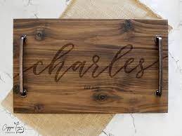 personalized serving trays personalized wedding gift serving tray caligraphy name copper fox co