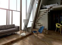 this ready made tiny home can be shipped to any destination on the interior a mezzanine floorplan allows for optimal use of space the bedroom hovers over the living space connected by an open staircase