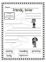 free friendly letter cut and paste worksheet google search